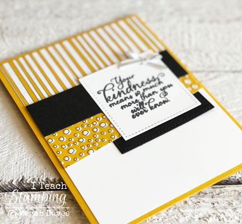 Use up your patterned paper scraps | card making idea