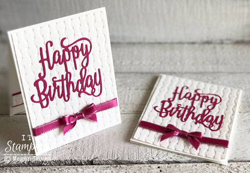 Stampin Up Basket Weave Embossing Folder