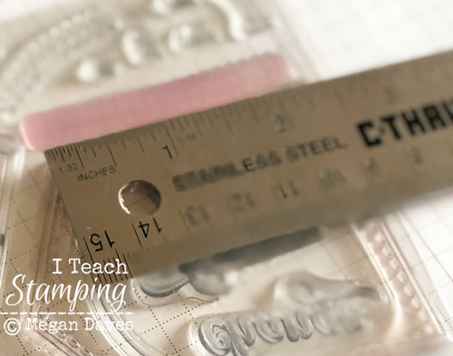 Stampin Up Pocketful of Sunshine | Ruler