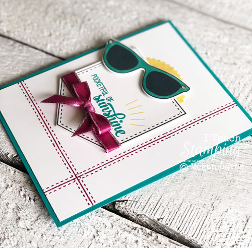 Stampin Up Pocketful of Sunshine | Using the stamparatus