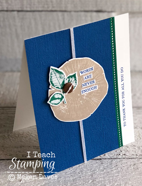 Textured Cardstock | Stampin Up Subtle Embossing Folder