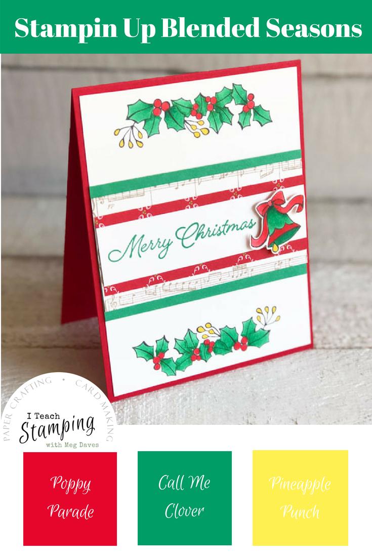 Handmade Christmas Card Using the Blended Seasons Bundle | pint 2