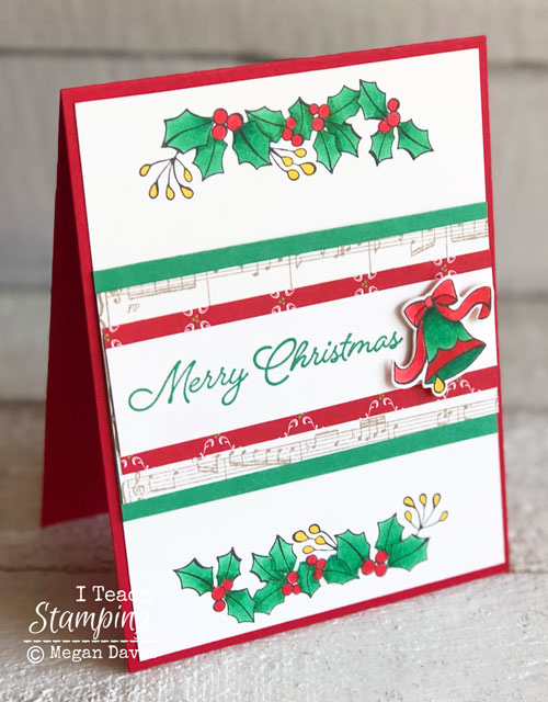 Handmade Christmas Card Using The Blended Seasons Bundle I Teach