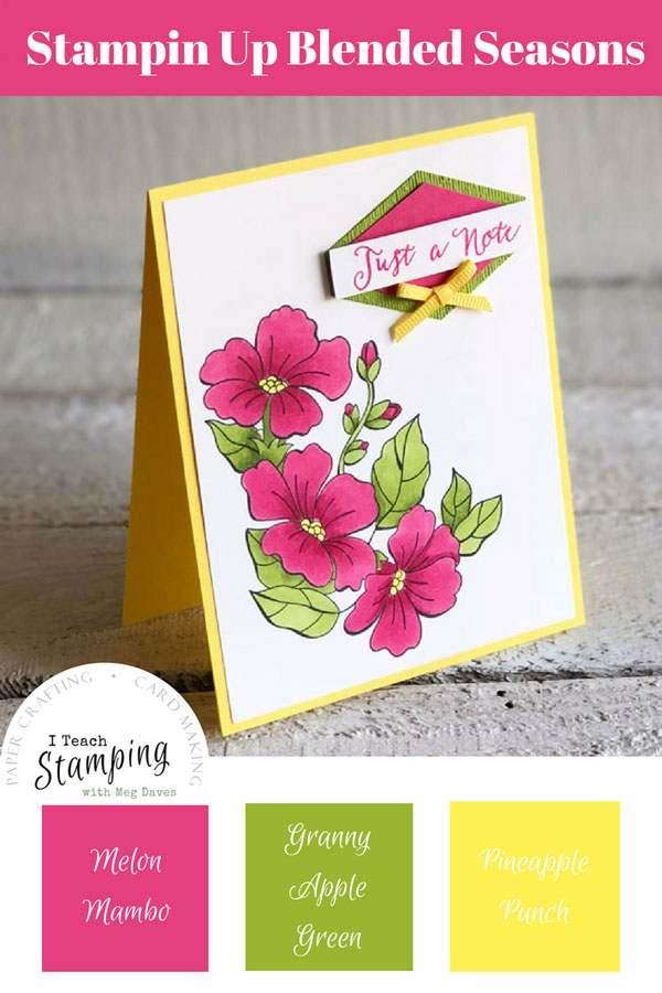 Stampin Up Blended Seasons Bundle - For Pinterest