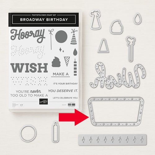 Stampin Up Broadway Birthday | the stamp set
