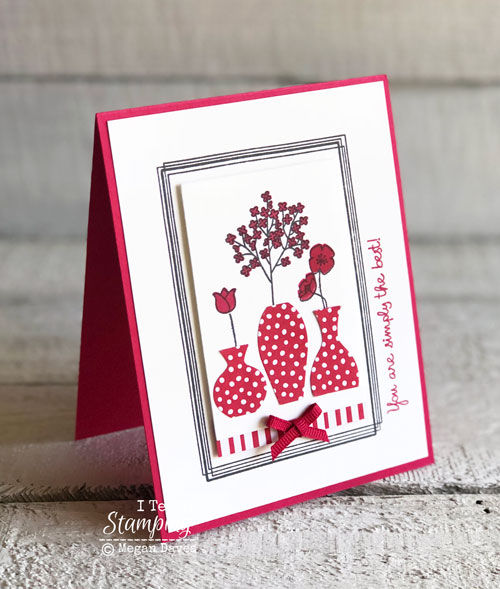 Stampin Up Swirly Frames:  Adding Depth to Your Cards