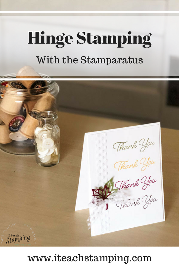 hinge stamping with the stamparatus