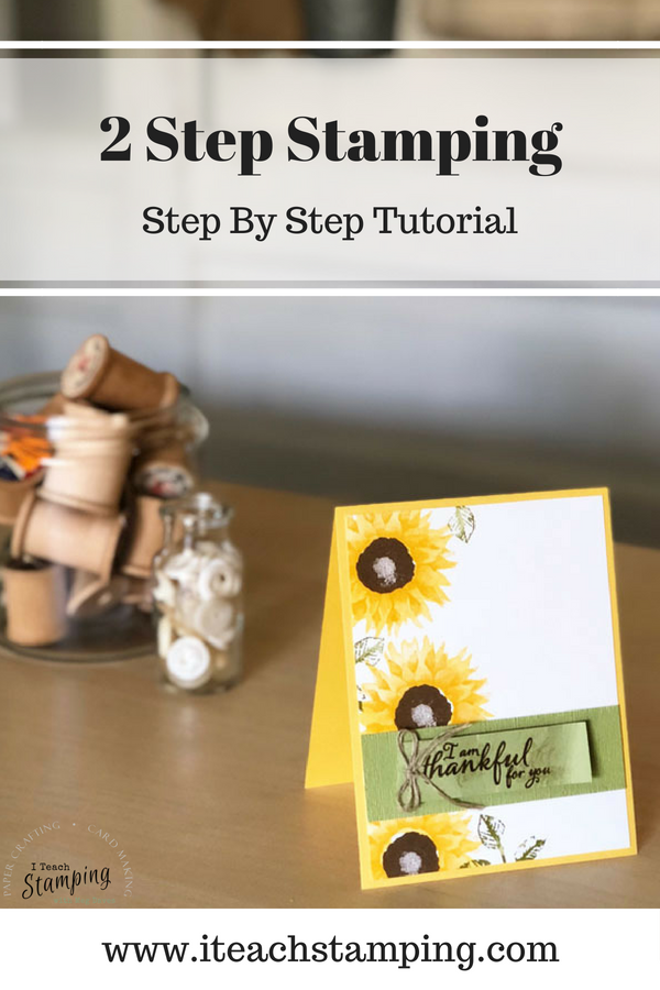 2 step stamping | the finished card