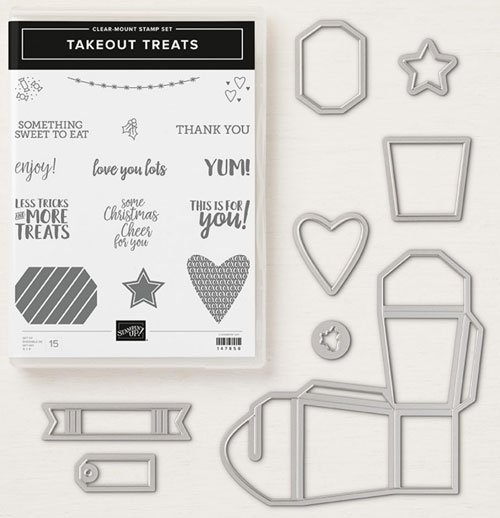 Peek-a-Boo Halloween Treat Box | Stampin Up Takeout Treats Bundle