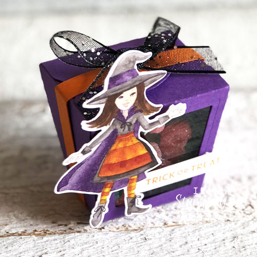 Peek-a-Boo Halloween Treat Box