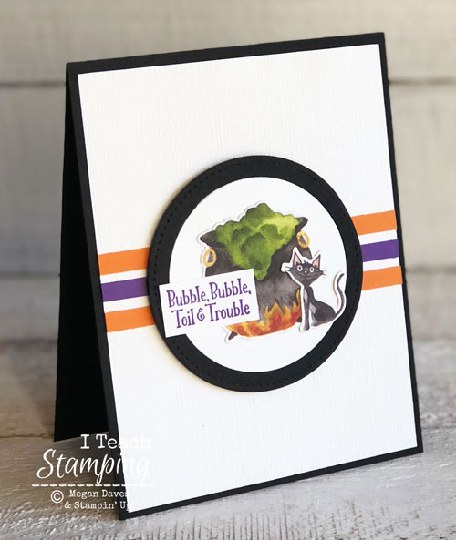 Halloween Card:  Stampin Up Toil & Trouble