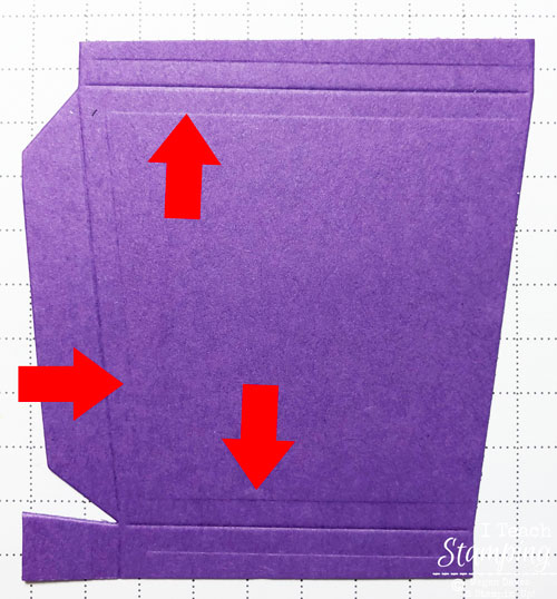 Takeout Treat Boxes from Stampin Up | Step 1