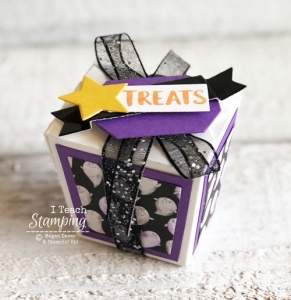 Altering the Takeout Treat Boxes from Stampin Up