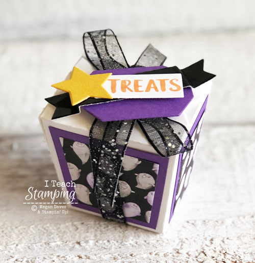 Takeout Treat Boxes from Stampin Up | altering the takeout treat thinlits