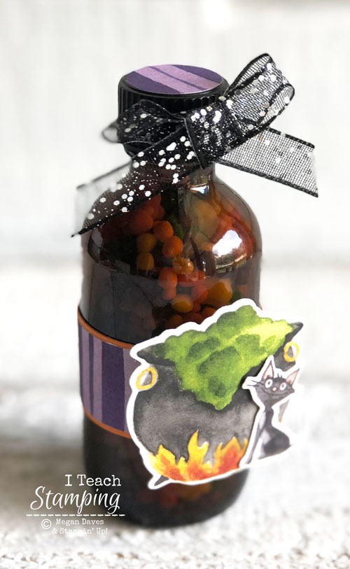 simple halloween treat | upcycled bottle
