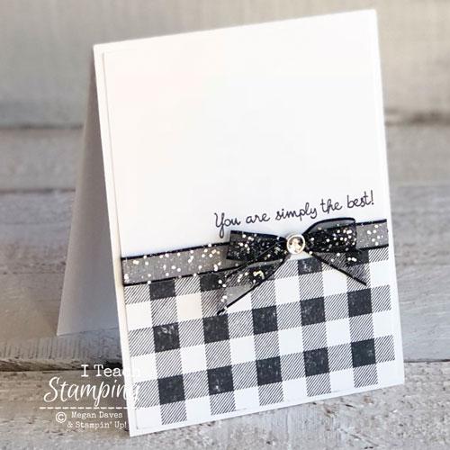 stampin up buffalo check | Simple handmade card