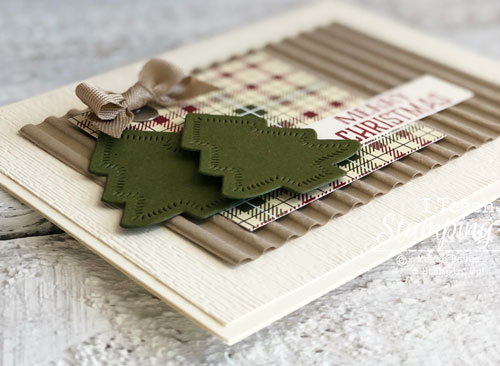 Awesome Handmade Christmas Cards | Corrugated embossing folder