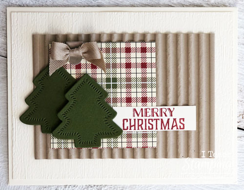 Awesome Handmade Christmas Cards | Dry embossed Christmas trees