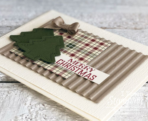 Awesome Handmade Christmas Cards | Subtle embossing folder
