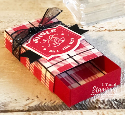 Stampin Up Christmas Traditions Punch Box | Matchbox