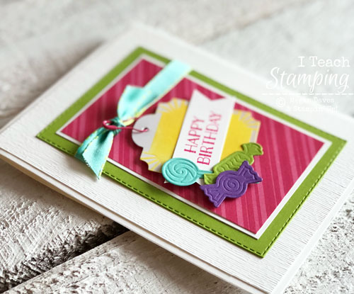 Happy Birthday Card Made with Sweetest Thing Stamp Set and Framelits
