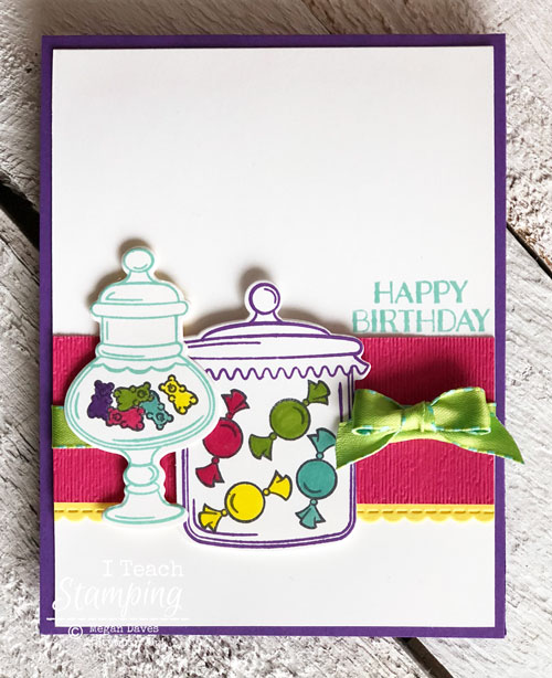 Candy Birthday Card | Color Detail