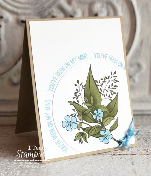 Handmade Card: Curving Photopolymer Stamps