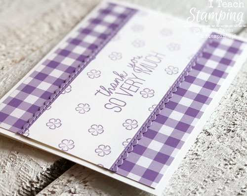 Handmade Thank You Cards | Love that scallop edge