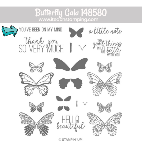 Stampin up butterfly gala | with sentiment
