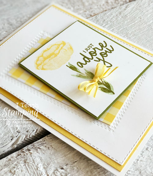 Stunning Greeting Card Made in a Flash | with stitched rectangle dies