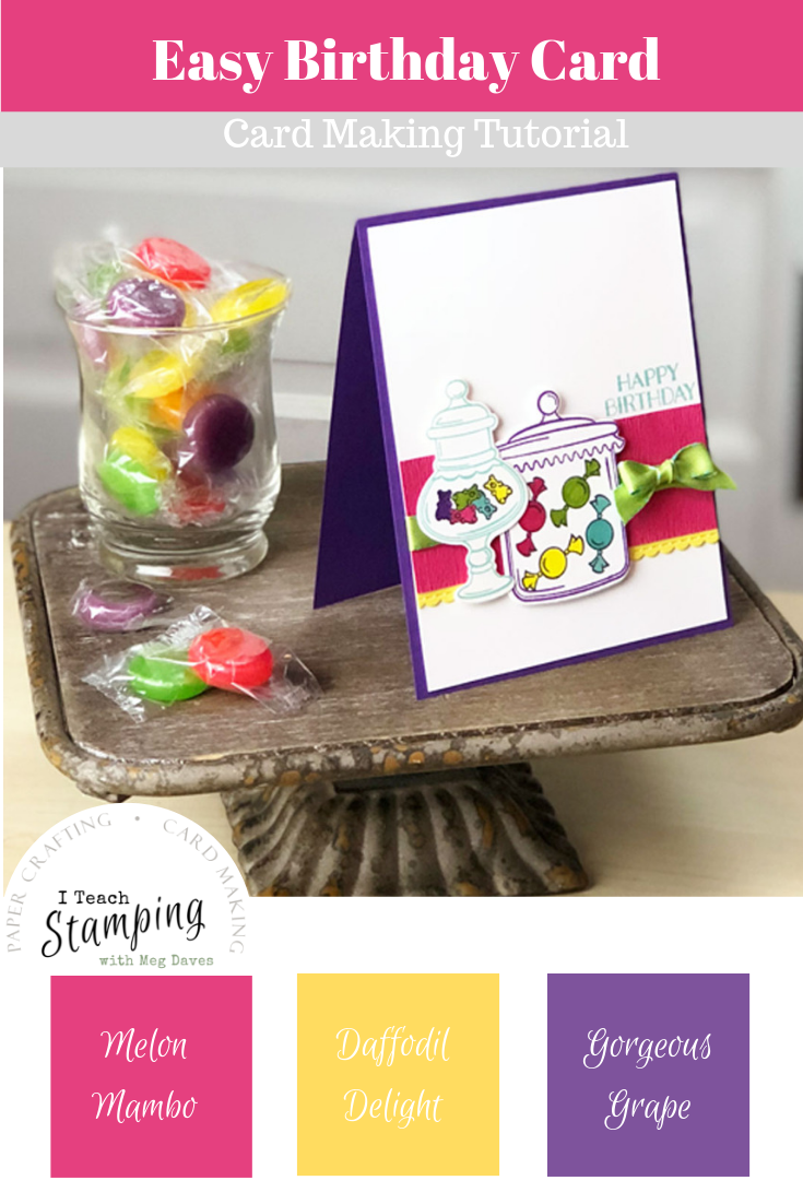 Candy Birthday Card | Make a birthday card with candy