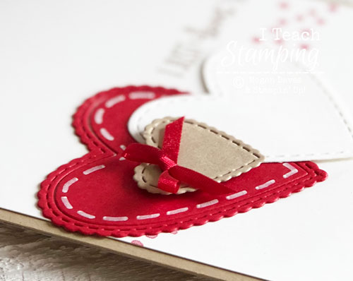Valentine Day Cards Handmade by You | Faux Stitching
