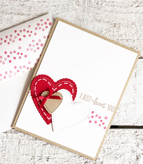 Pretty Valentine Day Cards Handmade by You