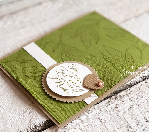 handmade masculine cards | Adding masculine accessories