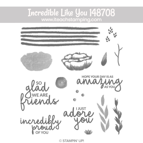 stampin up Incredible like you stamp set