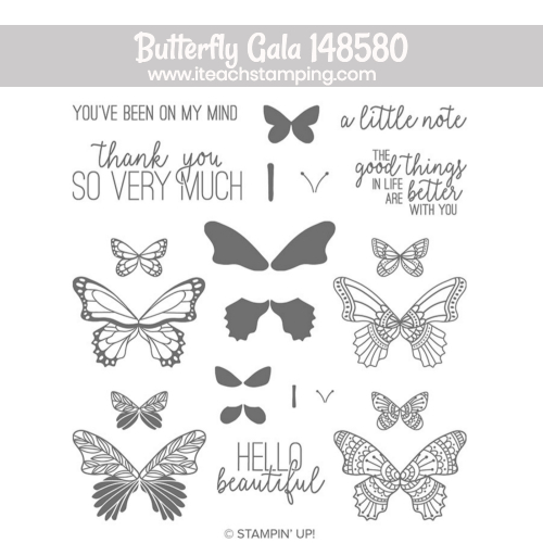 stampin up butterfly Gala