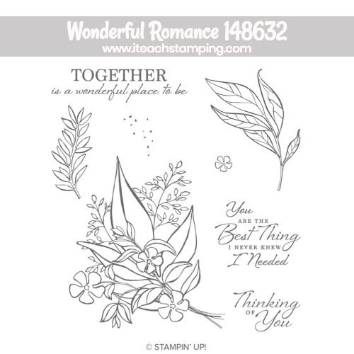 stampin up wonderful romance