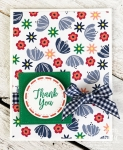 floral thank you cards | Love the gingham ribbon
