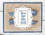 Burlap Background stamp | entire card