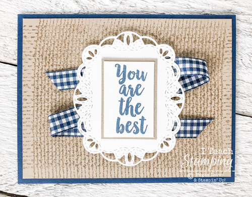 Burlap Background Stamp Retiring from Stampin Up