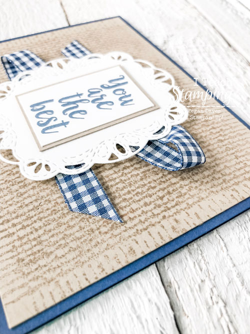 Burlap Background stamp | ribbon