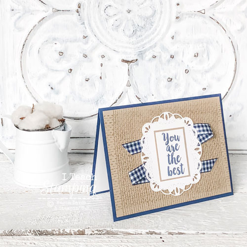 Burlap Background stamp