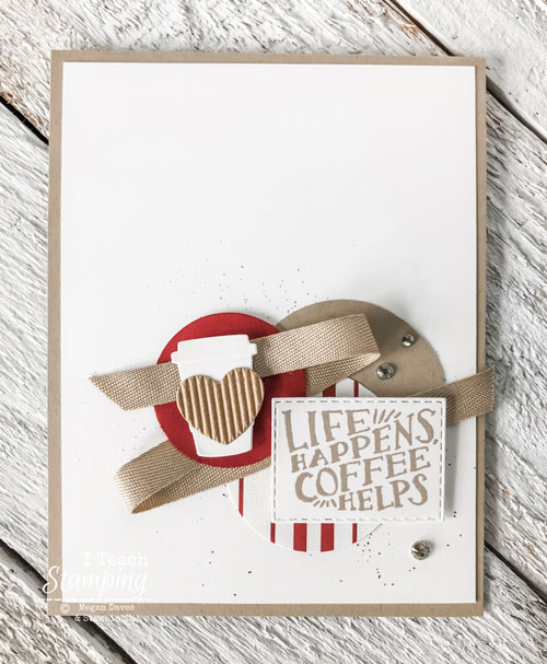 retiring list 2019 stampin up | coffee lover card