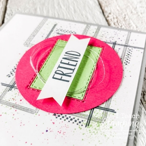 Bright and Trendy Handmade Card For a Friend