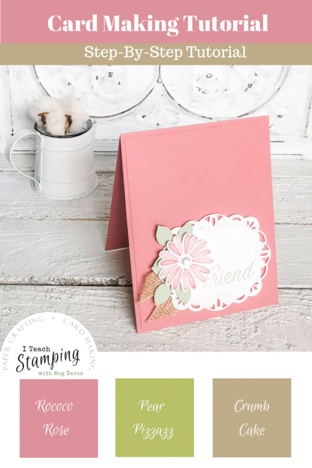 using a Daisy Punch on handmade card | make this project
