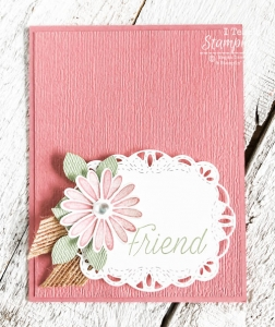Using a Daisy Punch on Handmade Card