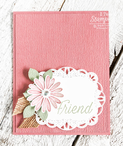 Using a Daisy Punch on Handmade Card