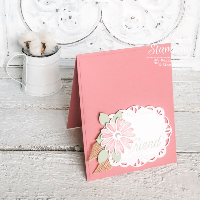 Using a Daisy Punch on Handmade Card | finished card