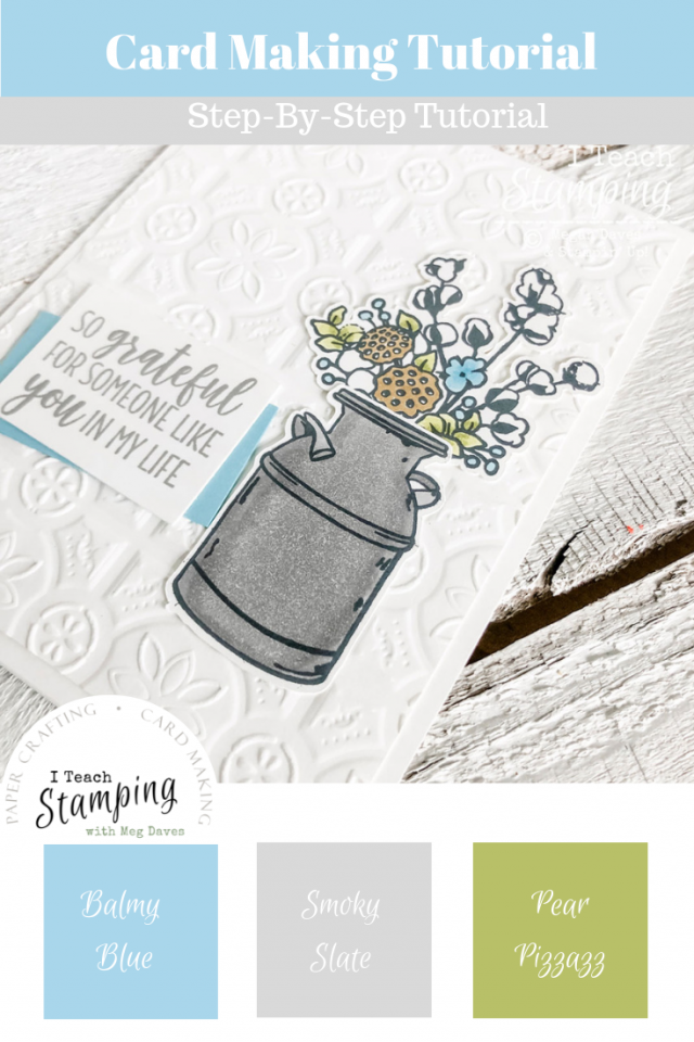 Galvanized Look using Stampin Blends