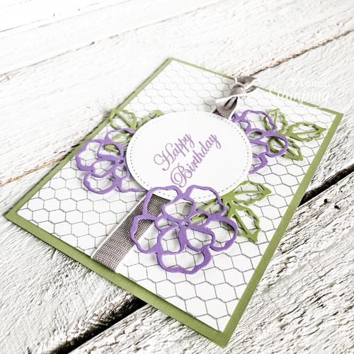 simple birthday card using die cuts